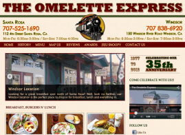 Omelette Express Home Page Image